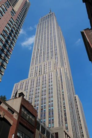 NEW YORK, USA - JULY 4, 2013: Empire State Building skyscraper in New York. The 381m tall building was the tallest building in the world for 40 years. Editorial