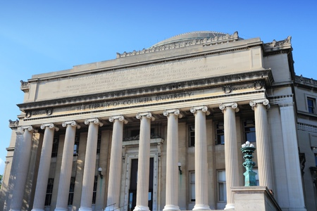 Columbia University library in New York City, United States - college in Upper Manhattan (Morningside Heights neighborhood of Upper West Side).