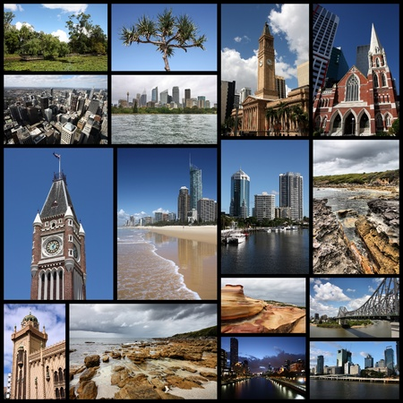 Photo collage from Australia. Collage includes major landmarks like Sydney, Melbourne, Brisbane, Perth and landscapes. photo