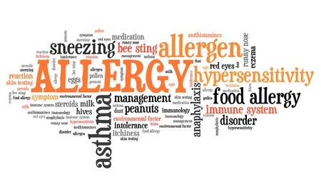Allergy - health concepts word cloud illustration. Word collage concept. illustration