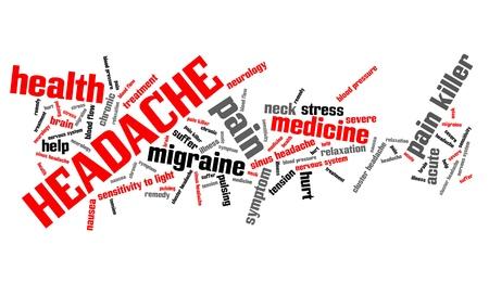 Headache - health concepts word cloud illustration. Word collage concept. illustration