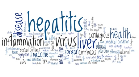 hepatitis vaccine: Hepatitis illness - health conceptual word cloud illustration. Word collage concept.