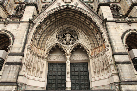 New York City, United States - Cathedral of St. John the Divine, head church of Episcopal Diocese of New York. photo