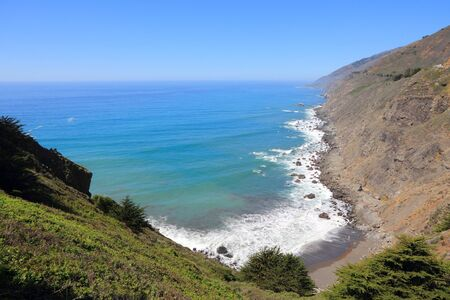 California, United States - Ragged Point. Pacific coast view in Big Sur. Stock Photo