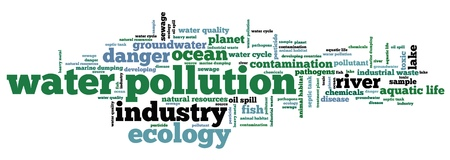 groundwater: Water pollution - environment issues and concepts word cloud illustration. Word collage concept.