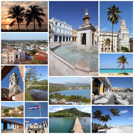 Cuba photos collage - travel memories photo collection. Images of Havana, Trinidad, Baracoa and Caribbean beaches. photo