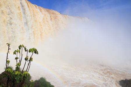 spectacular: Iguazu Falls - spectacular waterfalls on Brazil and Argentina border.