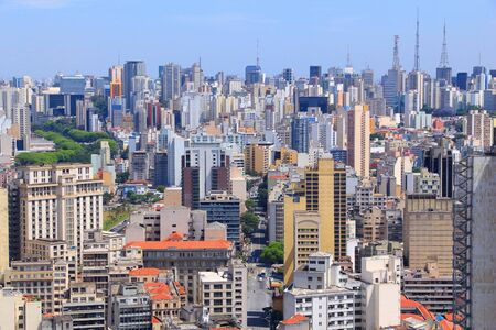 Sao Paulo, Brazil. Aerial view of skyscraper skyline. photo