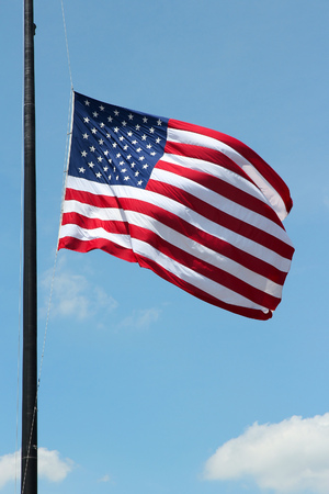 spangled: Flag of the United States, famous star spangled banner.