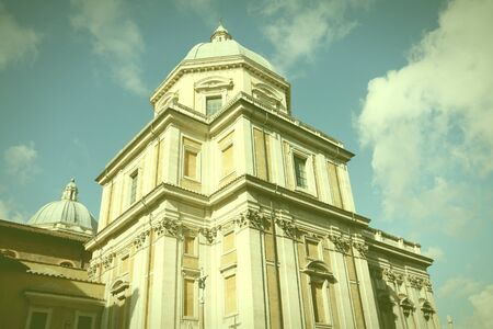 cross processed: Rome, Italy. Basilica of Santa Maria Maggiore. One of four papal basilicas. Cross processed color style - retro image filtered tone.