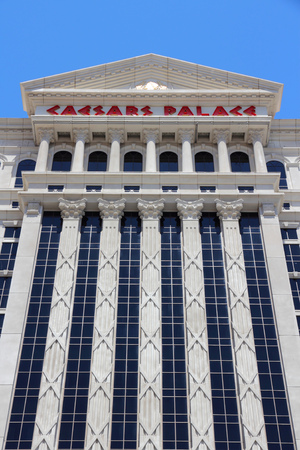 caesars palace: LAS VEGAS, USA - APRIL 14, 2014: Caesars Palace resort in Las Vegas. It is one of 20 largest hotels in the world with 3,960 rooms. Editorial