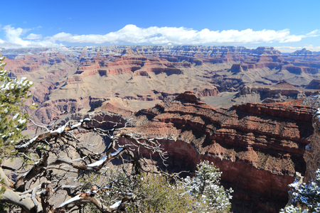 point of view: Grand Canyon National Park in Arizona, United States. Mather Point view. Stock Photo