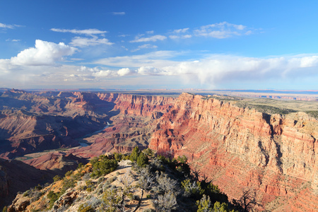 point of view: Grand Canyon National Park in Arizona, United States. Navajo Point view.