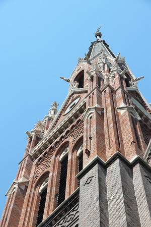 neogothic: Budapest, Hungary - neo-gothic Queen of Rosary church in Zuglo district.