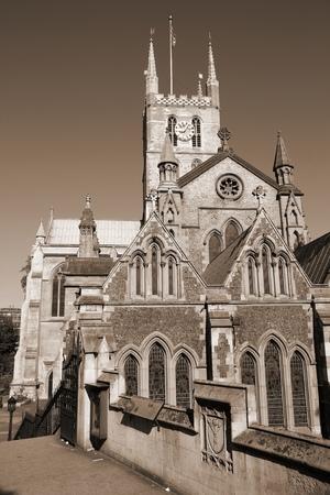 southwark: London, United Kingdom - famous Southwark Cathedral church.
