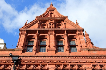 listed buildings: Birmingham in West Midlands, England. Methodist Central Hall - listed terracotta building.
