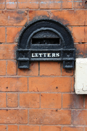 midlands: Birmingham. Old letterbox detail in Jewellery Quarter. West Midlands, England. Stock Photo