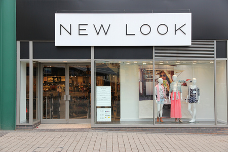 retailer: BIRMINGHAM, UK - APRIL 19, 2013: New Look fashion store in Birmingham, UK. New Look is a British high street fashion retailer with 1,160 stores worldwide (2014). Editorial
