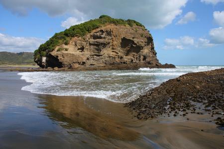 tasman: Te Henga - Bethells Beach near Auckland, New Zealand. Tasman Sea.