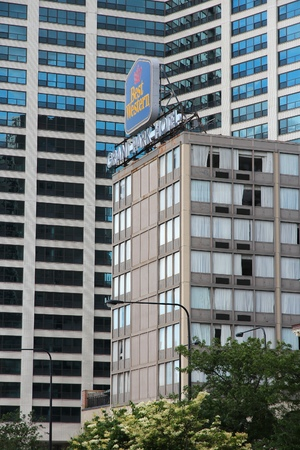 CHICAGO, USA - JUNE 27, 2013: Best Western Grant Park Hotel in Chicago. Best Western is a marketing cooperative with some 4,000 hotels. Editorial