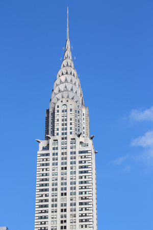 NEW YORK, USA - JULY 3, 2013: Chrysler Building exterior in New York. Famous Art Deco skyscraper was the tallest building in the world in 1930-31. Editorial