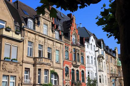 Dusseldorf, Germany. Old townhouses in Oberkassel area.
