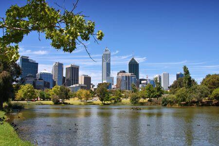 western australia: Perth, Australia - skyline view from John Oldany park.