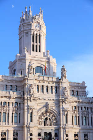 cibeles: Cibeles Palace in Madrid, Spain. City Hall architecture in Cibeles square. Editorial