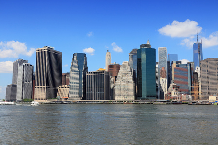 wtc: New York City, United States - Manhattan skyline with new WTC One.