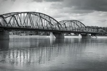 torun: Torun, Poland - truss bridge over Wisla river.