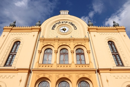 jewish culture: Synagogue in Pecs, Hungary. Jewish culture landmark.