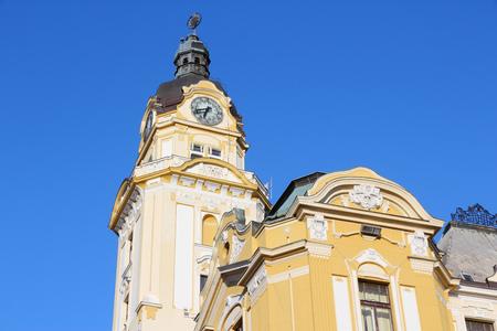 pecs: Pecs Town Hall in Hungary. City in Baranya county. Stock Photo