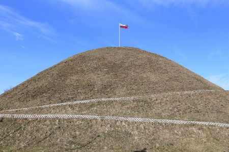 mound: Piekary Slaskie in Upper Silesia (Gorny Slask) region of Poland. National heritage - Liberation Mound (Kopiec Wyzwolenia). Stock Photo