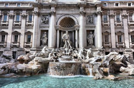 fontana: Trevi fountain, landmark in Rome, Italy. Fontana di Trevi. Stock Photo