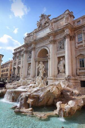 Trevi fountain, landmark in Rome, Italy. Fontana di Trevi. photo