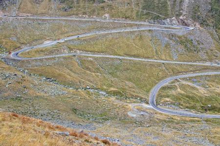 fagaras: Romania - Fagaras Mountains in Transilvania. Famous Transfagarasan mountain winding road.