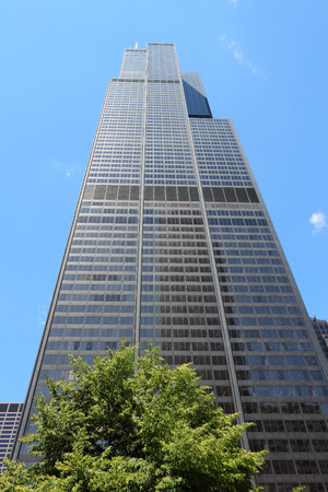 willis: CHICAGO, USA - JUNE 28, 2013: Willis Tower (formerly Sears Tower) in Chicago. It is 442m tall and as of 2013 is the 2nd tallest building in the USA.