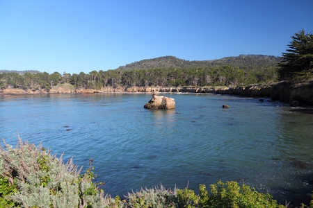 carmel: California, United States - Point Lobos State Reserve. Pacific coast view with Carmel Bay.