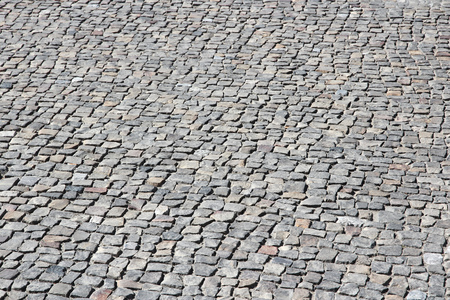 cobbles: Cobbled square backgrond - cobbles pattern in Berlin, Germany. Stock Photo