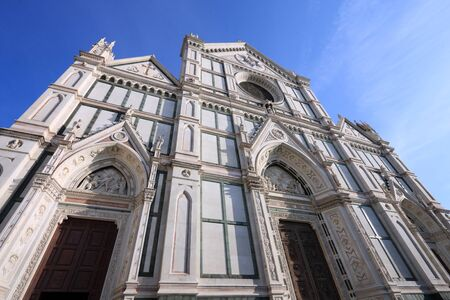 santa cross: Florence - Basilica of Santa Croce (Basilica of the Holy Cross). Franciscan church in Italy.