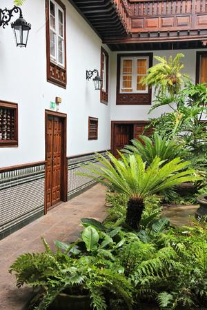 cristobal: Tenerife, Canary Islands, Spain - Old Town of San Cristobal de La Laguna, famous UNESCO World Heritage Site. Stock Photo