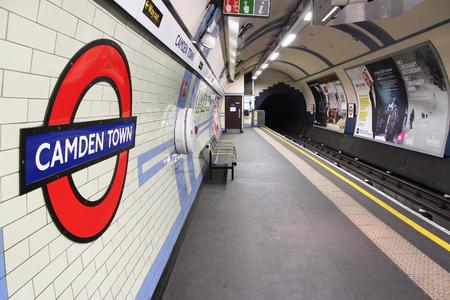 billion: LONDON, UK - MAY 15, 2012: Camden Town underground station in London. London Underground is the 11th busiest metro system worldwide with 1.1 billion annual rides.