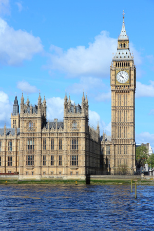 english famous: Big Ben tower in London. Famous English landmark.