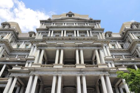 ejecutivo en oficina: Washington DC, capital de los Estados Unidos. Eisenhower Executive Office Building.
