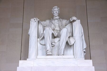 abraham lincoln: Washington DC, capital city of the United States. Abraham Lincoln memorial.