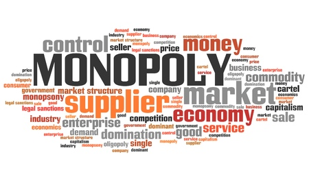 monopoly money: Monopoly - corporate issues and concepts word cloud illustration. Word collage concept. Stock Photo