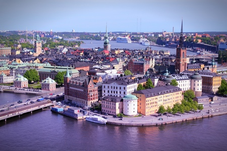 stan: Stockholm Old Town (Gamla Stan). Filtered style colors. Stock Photo