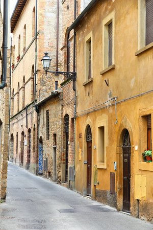 volterra: Volterra Italy  medieval town of Tuscany. Old town street. Stock Photo
