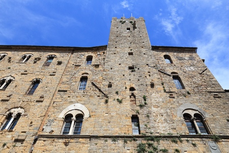 volterra: Volterra, Italy - medieval town of Tuscany. Palazzo Pretorio and the tower of Little Pig.