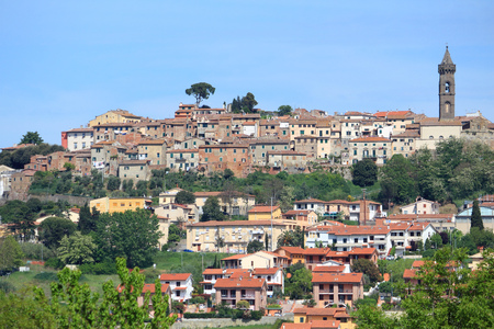 townscape: Tuscany  medieval town of Peccioli. Townscape in Italy.